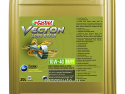 157AF0 Масло моторное Castrol Vecton Long Drain SAE 10W40 E6/E9, 20л